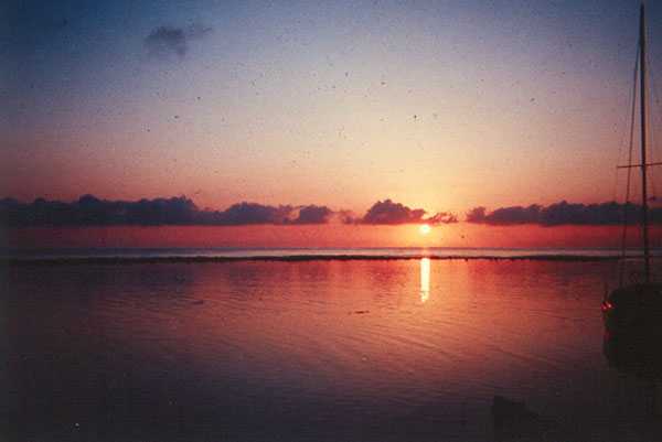 Sunrise over the Belize Barrier Reef. Where do you want to start you day?
